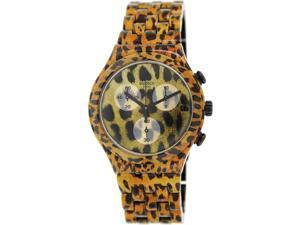 Swatch Women's Irony YCB4027AG Leopard Aluminum Swiss Quartz Watch