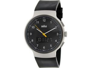 Braun Men's BN0159SLBKBKG Black Rubber Analog Quartz Watch