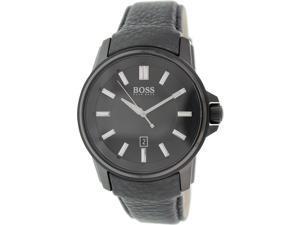 Hugo Boss Men's 1513038 Black Leather Analog Quartz Watch