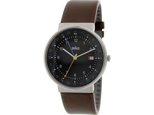 Braun Men's BN0142BKBRG Brown Leather Analog Quartz Watch