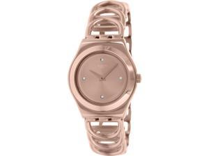 Swatch Women's Irony YLG126G Rose Gold Stainless-Steel Swiss Quartz Watch