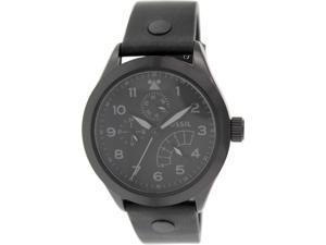 Fossil Men's CH2940 Black Leather Quartz Watch