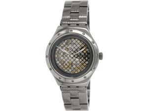 Swatch Men's Irony YAB101G Grey Stainless-Steel Swiss Quartz Watch