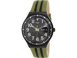 Swatch Men's Irony YGB7001 Green Nylon Swiss Quartz Watch