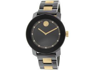 Movado Women's Bold 3600233 Black Stainless-Steel Swiss Quartz Watch