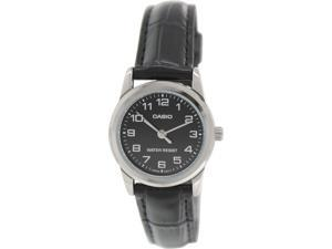 Casio Women's LTPV001L-1B Black Leather Quartz Watch