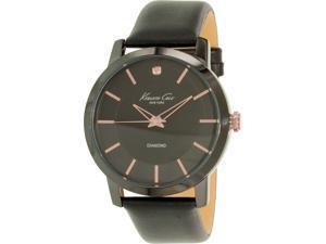 Kenneth Cole Men's KC8106 Black Leather Quartz Watch