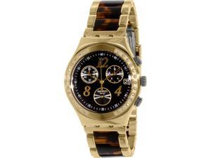 Swatch YCG405GC Women's Irony Gold Stainless-Steel Swiss Quartz Watch