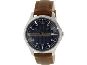 Armani Exchange Men's Hampton AX2133 Brown Leather Quartz Watch