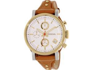 Fossil Women's Boyfriend ES3615 Gold Leather Analog Quartz Watch