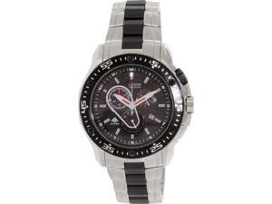 Citizen Men's AT0700-53E Silver/Black Stainless-Steel Eco-Drive Watch