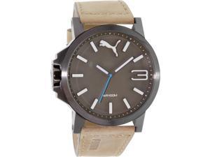 Puma Men's Ultrasize PU103461017 Brown Leather Quartz Watch