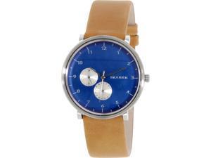 Skagen Men's Hald SKW6167 Blue Leather Quartz Watch
