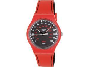 Swatch Men's Originals SUOR104 Red Silicone Swiss Quartz Watch