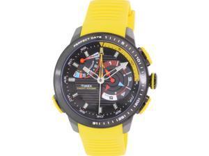 Timex Men's Intelligent Quartz TW2P44500 Yellow Rubber Analog Quartz Watch