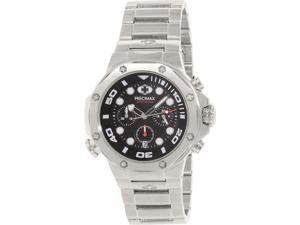 Precimax Men's Guardian Pro Silver Stainless-Steel Quartz Watch with Black Dial