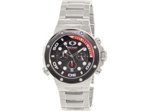 Precimax Men's Guardian Pro PX14005 Silver Stainless-Steel Quartz Watch with Black Dial