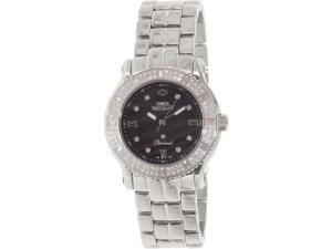 Swiss Precimax SP13330 Women's Tribeca Diamond Silver Stainless-Steel Swiss Quartz Watch with Silver Dial