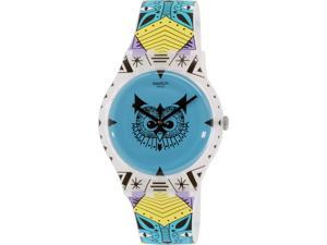 Swatch Women's Originals SUOZ191 Blue Rubber Swiss Quartz Watch