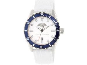 Armani Exchange Men's AX1711 White Leather Quartz Watch