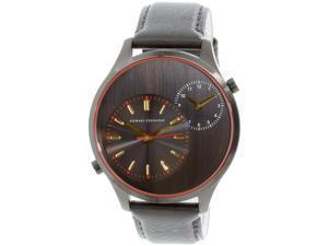 Armani Exchange Men's AX2168 Black Leather Quartz Watch