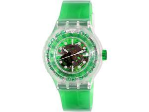 Swatch Women's Originals SUUK104 Green Plastic Swiss Quartz Watch