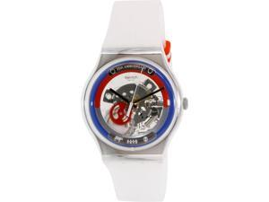 Swatch Men's Originals SUOZ195 White Silicone Swiss Quartz Watch