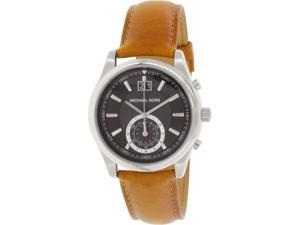 Michael Kors Men's MK8416 Brown Leather Swiss Quartz Watch
