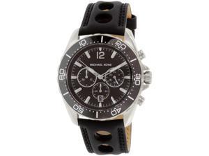 Michael Kors Men's MK8419 Black Leather Quartz Watch