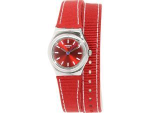 Swatch Women's Irony YSS289 Red Nylon Swiss Quartz Watch