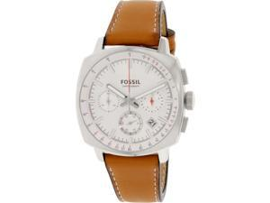 Fossil Men's Haywood CH2985 Brown Leather Quartz Watch