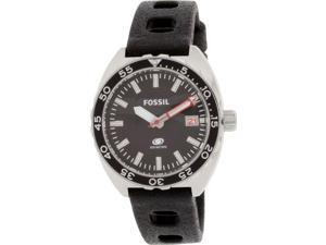 Fossil FS5053 Mens Breaker Three-Hand Date Silicone Band Black Dial Watch