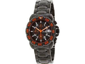 Precimax PX14027 Men's Ion Pro Black Stainless-Steel Quartz Watch