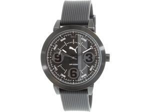 Puma Men's PU103361010 Black Silicone Analog Quartz Watch