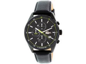 Lacoste Mens Dublin 2010785 Black Leather Quartz Watch