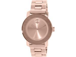 Movado Women's Bold 3600342 Rose Gold Stainless-Steel Swiss Quartz Watch