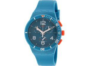 Swatch Men's Originals SUSN406 Aqua Silicone Swiss Quartz Watch