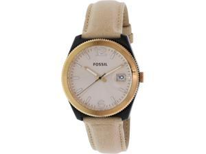 Fossil Women's Perfect Boyfriend ES3777 Beige Leather Quartz Watch