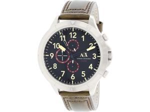 Armani Exchange Men's AX1755 Brown Leather Quartz Watch