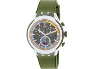 Swatch Men's Irony YYS4009 Green Silicone Swiss Quartz Watch