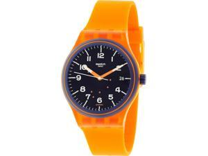 Swatch Men's Originals SUTO401 Orange Silicone Automatic Watch