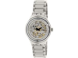Swatch Men's Irony YAS112G Silver Stainless-Steel Automatic Watch