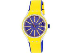 Swatch Men's Irony YES4009 Yellow Silicone Swiss Quartz Watch
