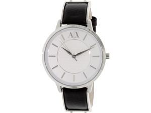 Armani Exchange Women's AX5309 Black Leather Quartz Watch