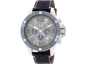 Armani Exchange Men's AX1517 Blue Leather Quartz Watch