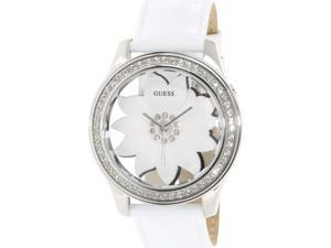 Guess Women's U0534L1 Silver Leather Quartz Watch