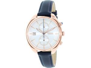 Fossil Women's CH2997 Blue Leather Quartz Watch
