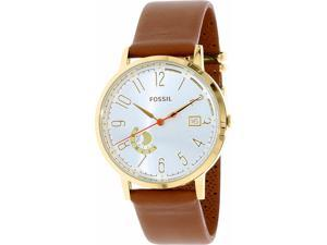 Fossil Women's ES3750 Silver Leather Quartz Watch