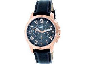Fossil Men's FS5085 Rose Gold Leather Quartz Watch