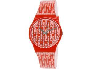 Swatch Women's Originals GR143 Red Plastic Swiss Quartz Watch